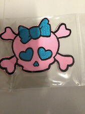 Iron On Patch -   Pink & Blue Rockabilly