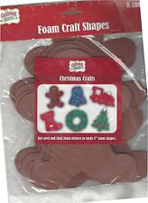 "New Christmas House Foam Craft Shapes Gingerbread Man Peel & Stick  8""  Pkg of 8"