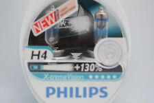 PHILIPS SET OF 2 NEW X-TREME VISION H4 HEADLIGHT BULBS QUALITY ORIGINAL +130%