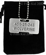 Wolverine Origins Dog Tag ID Necklace Brushed Steel Marvel X-Men Jame Logan