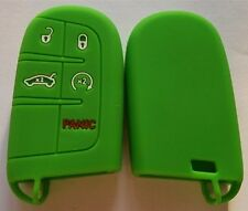 GREEN SILICONE KEY COVER for JEEP DODGE CHRYSLER 300C CHARGER GRAND CHEROKEE
