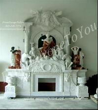 THE BEST HAND CARVED MARBLE FIREPLACE ON EBAY FPM274
