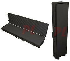 53' Long Tactical RIFLE GUN CASE Storage ALUMINUM ALLOY Frame Lock Wheeled Black