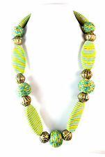 LADIES BOLD GREEN CHUNKY MULTI LAYER NECKLACE BRAND NEW STATEMENT UNIQUE (ST62)