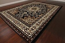 Generations 8023black Oriental Traditional Isfahan Persian Area Rug, 9' x 12' 5
