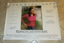 RIDING IN CARS WITH BOYS movie poster DREW BARRYMORE poster - original UK quad