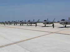 WAR MILITARY AIR FORCE FIGHTER JET AIRFIELD RUNWAY F35B SQUADRON POSTER BB3296A