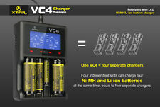 XTAR VC4 LCD Screen USB Battery Charger 18650 26650 32650 14500 AA AAA
