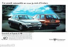 PUBLICITE ADVERTISING 116  1996  la Lancia K  & K SW  ( 2pages)