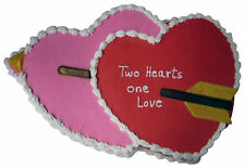Double Heart Valentine Panstastic Cake Pan oven save to 375 from CK #1012 - NEW
