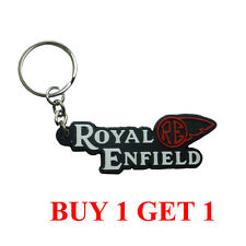 S1400973  Rubber Key Chain with Royal Enfield design