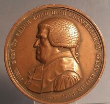 1827 John Earl of Eldon Lord High Chancellor bronze medal  By C VOIGHT F