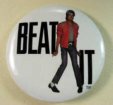 "MICHAEL JACKSON ""BEAT IT"" 1984 Large 2-1/4 Inch Pinback Button Pin Badge"