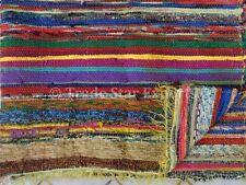 Indian 4X6 Rag Rug Hand Loomed Reversible Carpet Oriental Throw Large Boho Rug