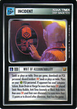 STAR TREK CCG RULES OF ACQUISITION RARE CARD WRIT OF ACCOUNTABILITY