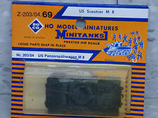 Roco Minitanks / Herpa (NEW) WWII US M-8 Armored Scout Car W/20mm Gun Lot #1249