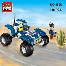 Enlighten 1908 Police Patrol Car Vehicle DIY Building Block Toy lego Compatible