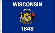 5Ft X 3Ft 5'X3' Flag Wisconsin America State American Usa American