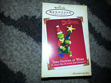 Hallmark 2005 TREE NAPPER AT WORK How GRINCH Stole Christmas DR. SEUSS Ornament