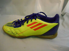 Adidas Fluorescent Yellow and Purple Indoor F50 Soccer Shoes Mens Sz 5 / 37