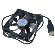 Black 5V 8015 USB Computer/PC/CPU Silent Cooling Case Fan 80x80x15mm