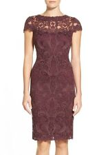 NWT blacberry Tadashi Shoji Illusion Yoke Lace Sheath Dress size 10