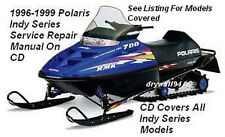 1996 - 1999 Polaris Indy Snowmobile-Indy Series OEM Service Repair Manual On CD