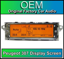 Peugeot 307 display screen, RD4 radio LCD Multi function clock dash Brand New!!!