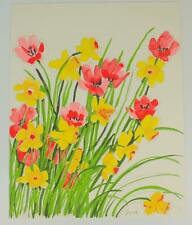 Original  RARE Signed VERA NEUMANN FLORALS Series Water Color Painting 16 x 20