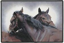 DOORMAT--18 X 27--Special Connection Horses, rubber backed