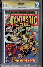 FANTASTIC FOUR #151 CGC 8.0 OWW PAGES SS STAN LEE SIGNED CGC #1206491006