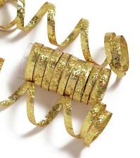 GOLD HOLOGRAPHIC METALLIC PARTY STREAMERS - 10 THROWS EACH THROW IS 6.5FT LONG