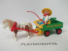 PLAYMOBIL. TIENDA PLAYMOXOY76. CARRO DEL PONY RANCH REF. 4060-5937-3775.