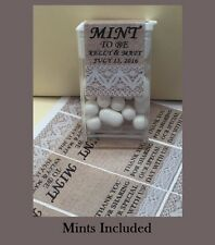 "NEW ~ Includes Candy Mints ~ Custom Wedding Favors ""Mint to Be"" - 50 per order"