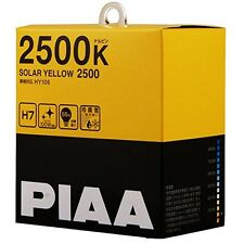 PIAA 2500K SOLAR YELLOW 2500 H7 Headlight Fog Light Bulbs Driving HY106 F/S EMS