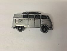 VW Van (Split Screen) With Surf Boards on Roof 3D pin badge car ref293