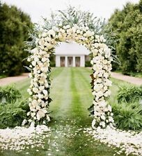 "55""x90""White Wedding Metal Arch Party Bridal Prom Garden Floral Decoration"