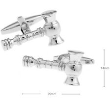 High Quality Cufflinks Hammer silver Colour Auction Cuff links Judge Court Law