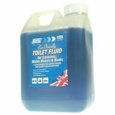 2 Litre Blue Eco Toilet Fluid Chemical Caravan Camping Motor home Boat