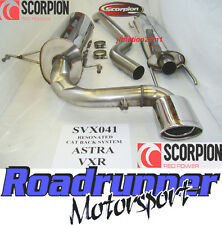Scorpion SVX041 Astra VXR MK5 Exhaust System Stainless Cat Back Resonated 2.5""