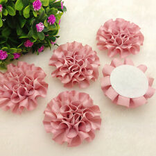 5PCS new satin ribbon Peony Flower Appliques/craft/Wedding decoration,red1)'