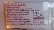 Zombie Survival Kit / Walking Dead / Halloween Bnip