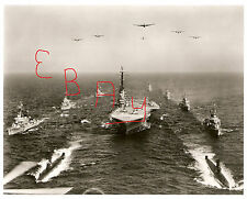 WWII LARGE 11X14  PHOTOGRAPH OF USS RANDOLPH CV-15 AND TASK FORCE IN ACTION LOOK