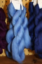 Merino Wool Top Roving Hyacinth Blue 1 oz
