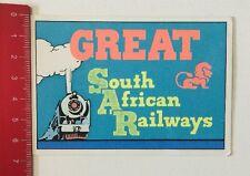 Aufkleber/Sticker: Great SAR - South African Railways (250416198)