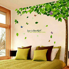 Large Green Tree Beautiful Decals Art Wall Stickers Removable Living Room Decor
