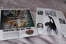 Universal Studios Earthquake Busch Gardens Sea World Sesame adverts c1980s