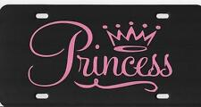 PRINCESS Licese Plate Tag With Vinyl Decal