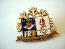 PINS FLOCON NEIGE TELEVISION TV ANTENNE 2 FR3 JEUX OLYMPIQUES