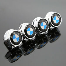 4PCS For BMW All Model Car Emblem License Plate Frame Screw Bolts Cap Cover